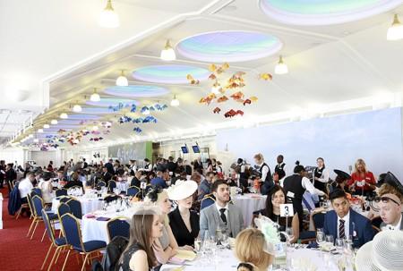 Royal Ascot Guests at their tables
