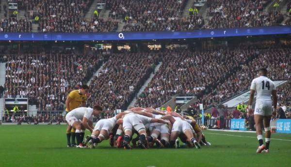 England rugby team at Twickenham