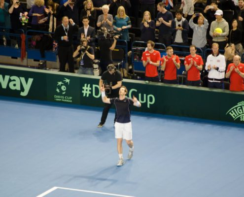 Davis Cup Tickets & Hospitality - Andy Murray Celebrates
