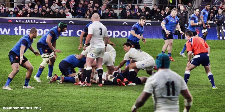 England Rugby players tackle