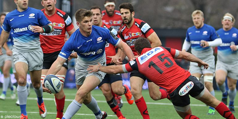 Owen Farrell is one of eight Saracens players in the England Six Nations squad