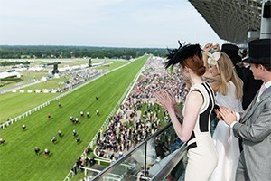 Ascot Private Box Guests Looks Out