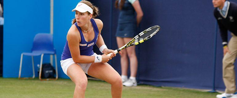 Johanna Konta playing tennis