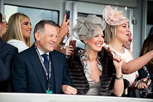 Guests in VIP hospitality on Ladies Day at Aintree