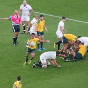 England vs Australia Players Tackle