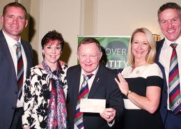 Cheque presentation for Wooden Spoon Rugby Charity