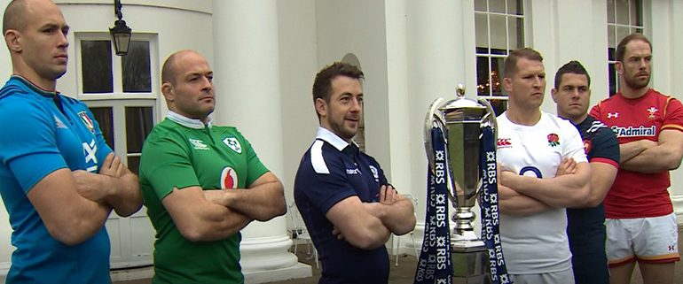 Six Nations Captains With Trophy