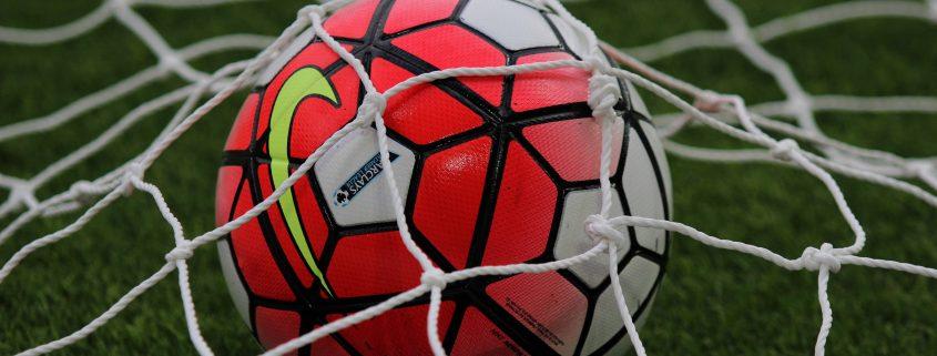 Football Ball Inside The Net