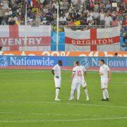 Fans Raise England Flag