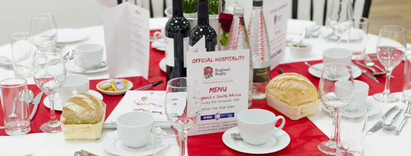 England Rugby Hospitality Table