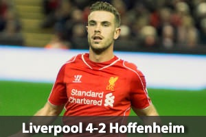 Liverpool Hospitality - Liverpool v Hoffenheim - Champions League Football - Anfield Packages