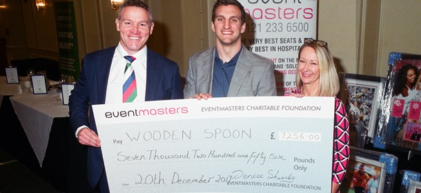 Eventmasters present cheque at Midland's Sportsmans Luncheon