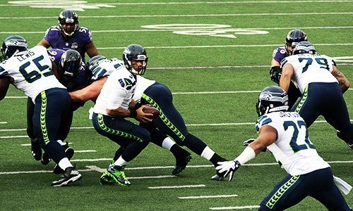 Seattle Seahawks Players on the pitch