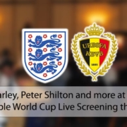 Charitable Wolrd Cup live screening England v Belgium