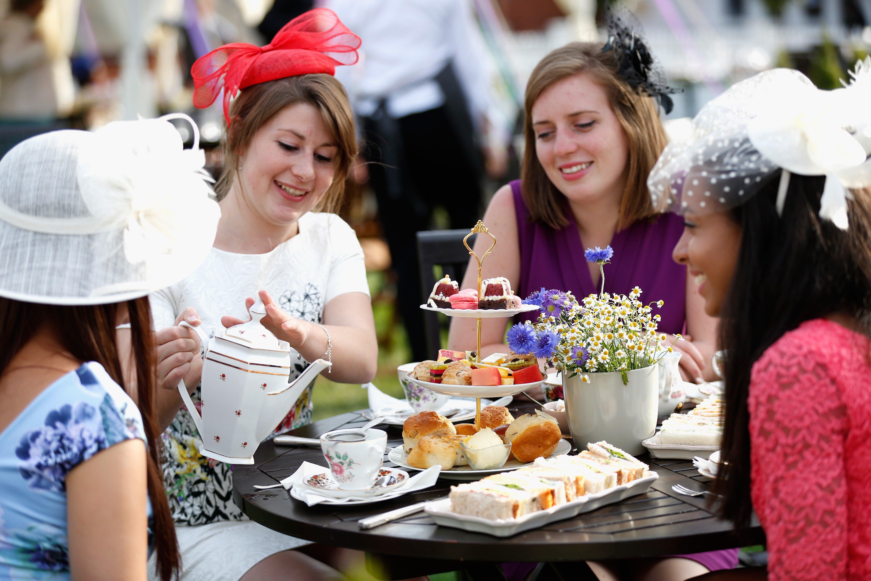 Royal Ascot Ladies Day Guests at Afternoon Tea