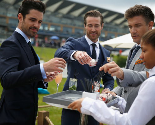 Royal Ascot Hospitality Guests Enjoy Drinks