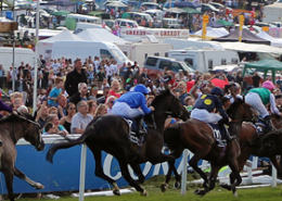 horses running at Epsom Derby