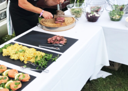 cold buffet lunch at Epsom Derby