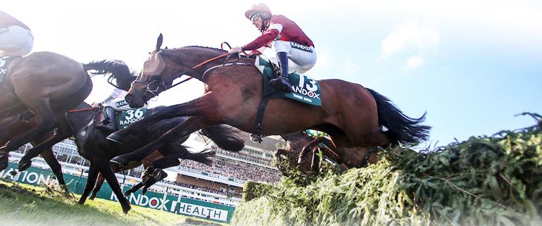 Horses racing at Randox Health Grand National