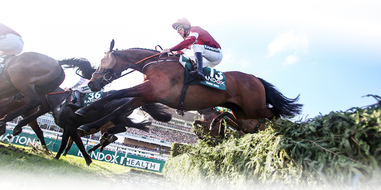 Horses racing at Randox Health Grand National