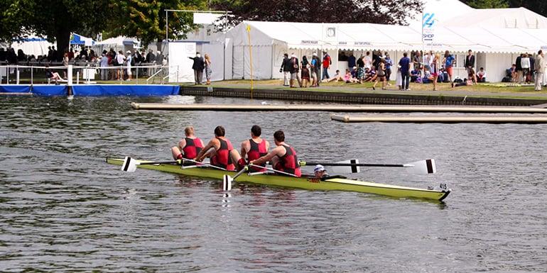 Henley Regatta Rowers in Boat