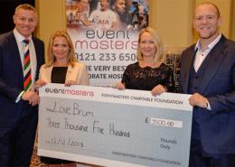 LoveBrum cheque presentation