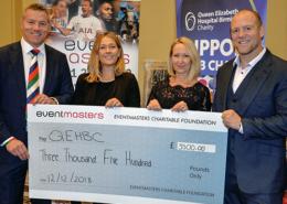 QEHBC cheque presentation