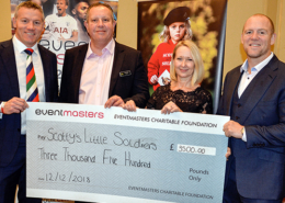 Scotty's cheque presentation