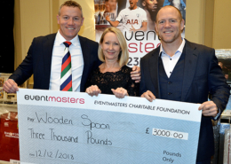 Wooden Spoon cheque presentation