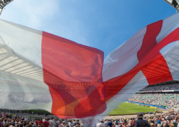 English French Flags Twickenham Stadium