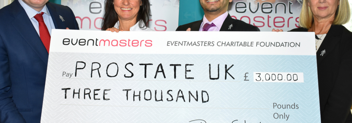 Eventmasters - Prostate Cancer Cheque Presentation