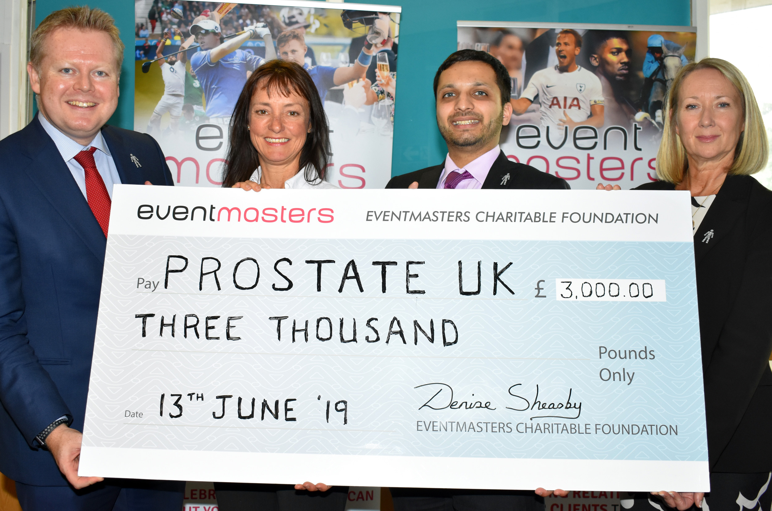 Eventmasters support Prostate Cancer UK at the GBCC Awards Evening