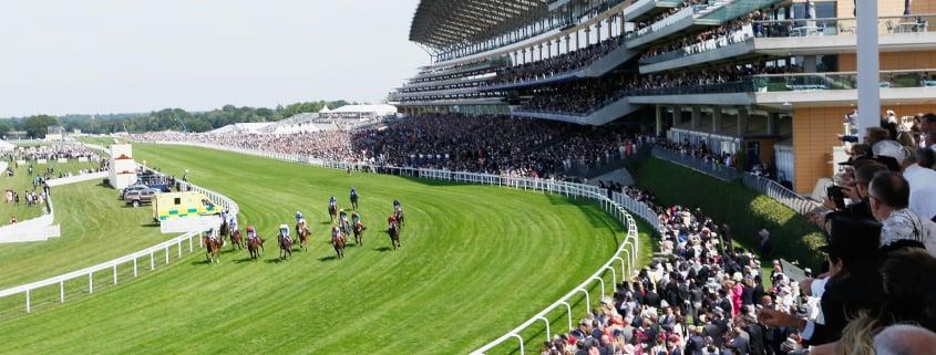 Horses racing on ascot racecourse