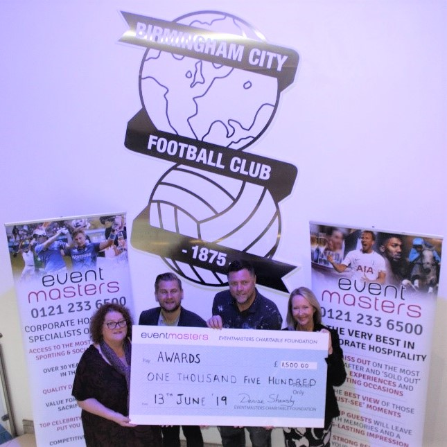 Geoff Horsfield Foundation and Birmingham and Solihull Women's Aid - Cheque Presentation