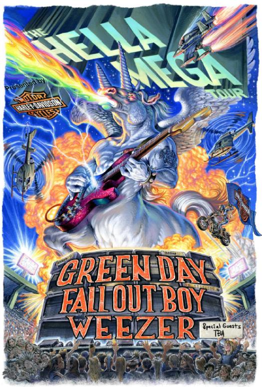 Green Day Hella Mega Tour Semi Private Booth