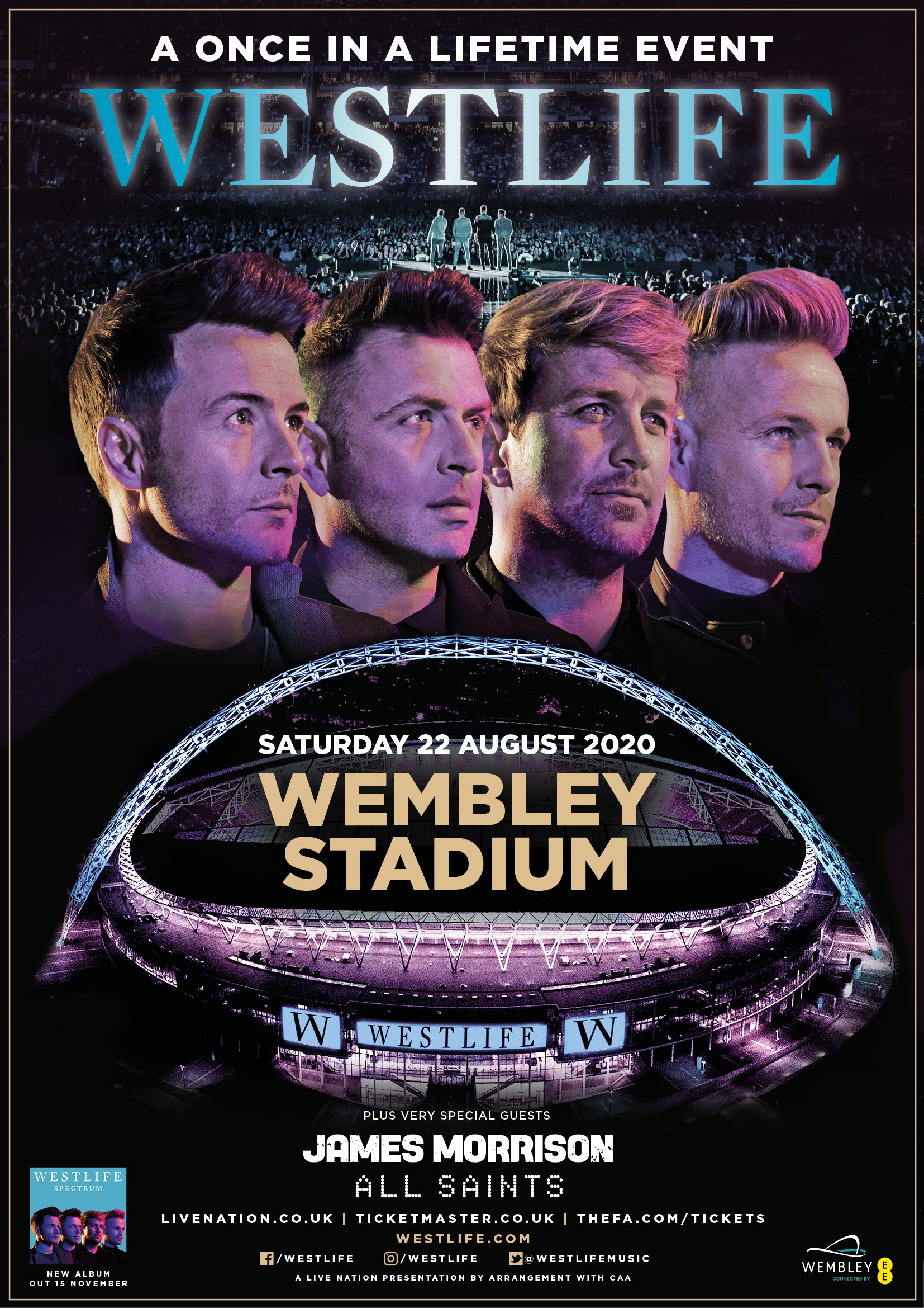 Westlife at Wembley Stadium Hospitality