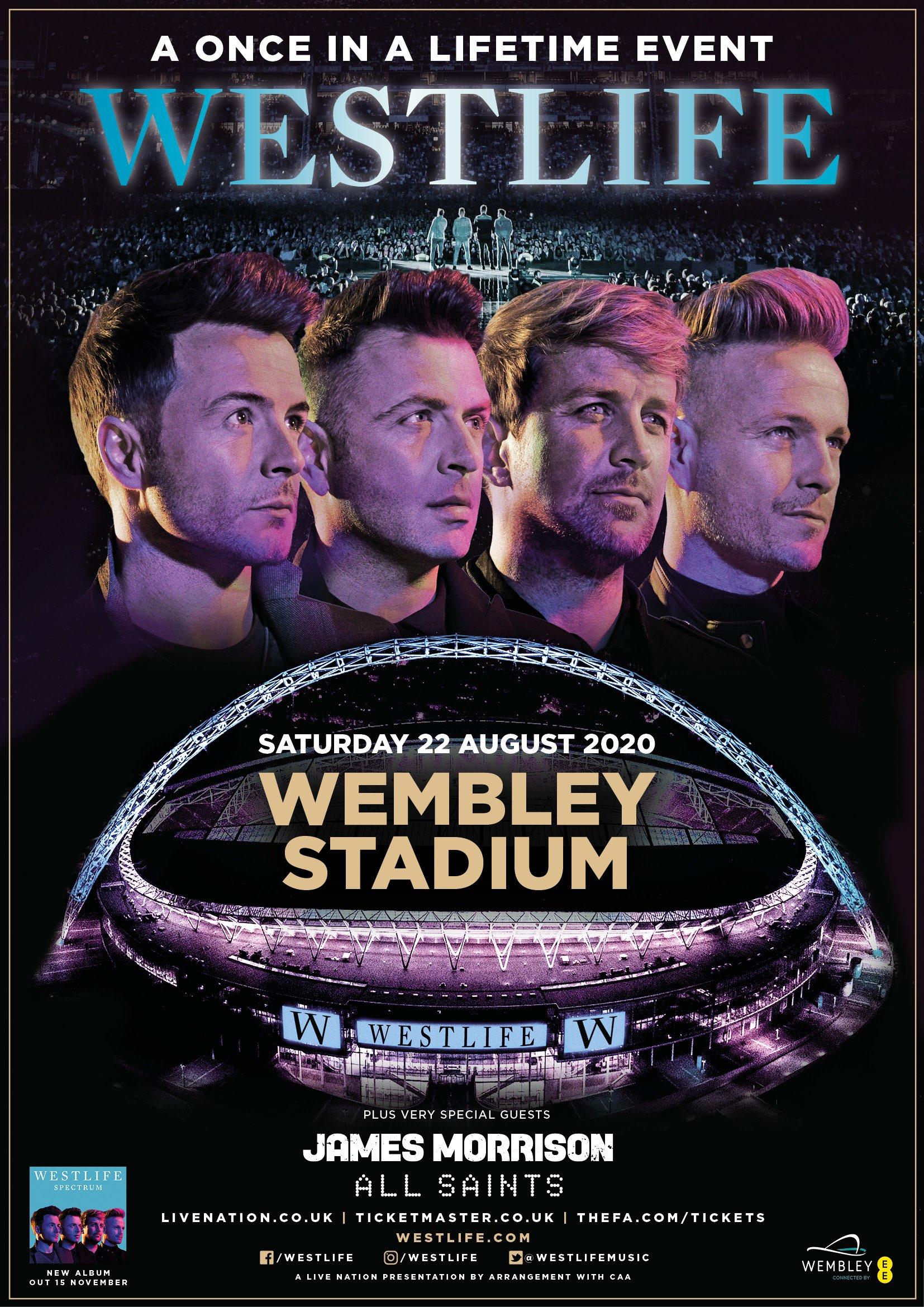 Westlife at Wembley Stadium Hospitality