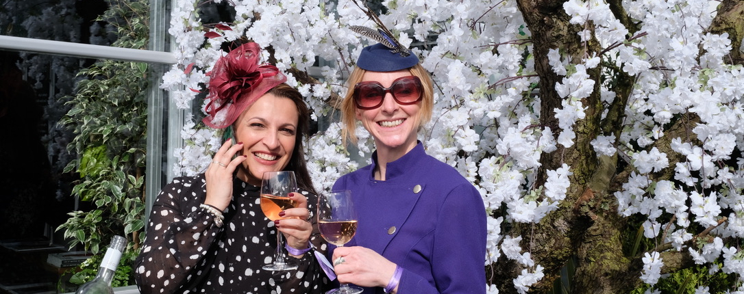 Ladies enjoying hospitality at Cheltenham Festival