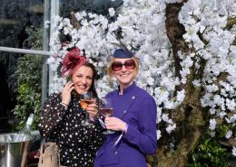 Ladies enjoying hospitality at Cheltenham Festival