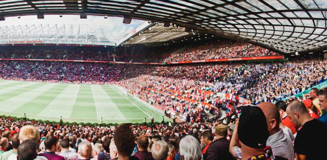 football fans in stadiums