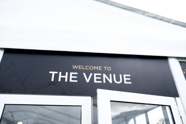 The Venue entrance sign