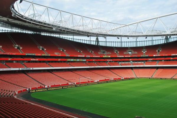 Arsenal Emirates Stadium - Arsenal FC Half Pitch View