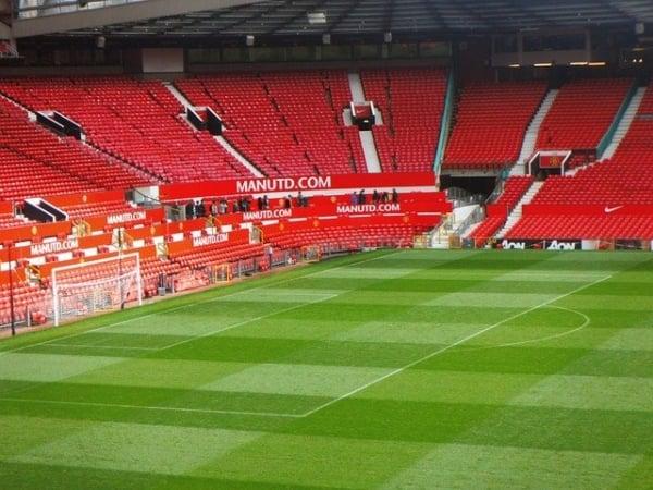 Old Trafford stadium - Man United pitch