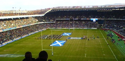 Pitch View of BT Murrayfield Stadium