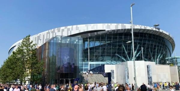 Outside Tottenham Hotspur Stadium