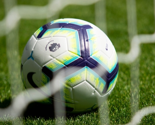 Premier League football on pitch