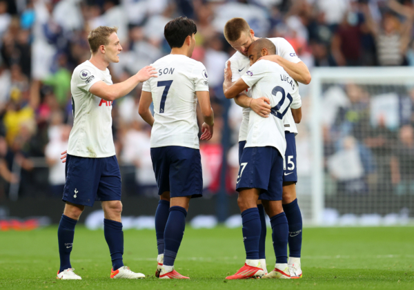 Tottenham Hotspur Players Supporting Each Other